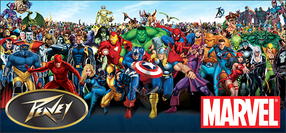 Линия гитар Peavey с супергероями Marvel